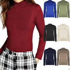 No Pattern Semi Fitted Waist Length Crew Neck Women's Tops & Shirts