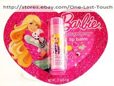 LOTTA LUV BARBIE Lip Balm STRAWBERRY Flavored HOLIDAY/CHRISTMAS 2013 New