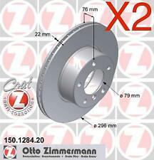 Zimmermann Front Brake Discs 296mm BMW E39 523i 525i 528i 535i 34111163013