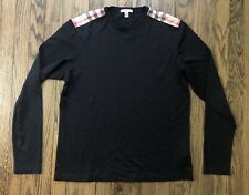 Burberry Brit Mens Long Sleeve T Shirt Nova Check Shoulder Size Large