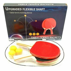 Table Tennis Trainer Elastic Shaft with 2 Paddle & 3 Balls Indoor Sport