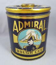 Vintage ADMIRAL Rough Cut Tin Litho Canister Tobacco Tin Missouri