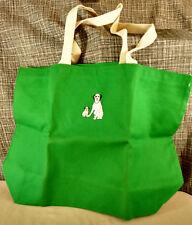 RCA Victor Logo Nipper Chipper Green Tote Bag Purse 78-LP Record Carrying VTG