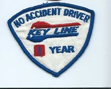 Key Line no accident 1 year driver patch 2-7/8 X 3-3/8 #1211