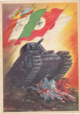 Guerre 39-45 WW2 PROPAGANDE  FACISTE ITALIE ANTI Alliés