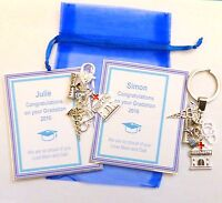 Nurse Doctor Congratulations on Graduation 2019 Bag Charm Keyring Gift Gift Card