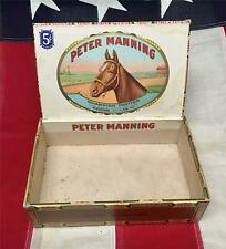Vintage 1920s Peter Manning Cigar Box Horse Racing Champion Hanover Shoe Farms