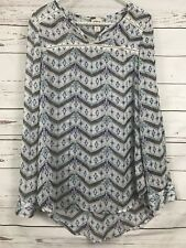 Mossimo Supply Co Small Aztec Print Sheer Oversize Blouse