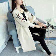 Womens Cardigan Sweater Shawl Korean Loose Flared Sleeve Knitted Coat Outwear