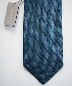 🆕️ NEW Authentic TOM FORD Teal Black 100% SILK WIDE Neck Tie