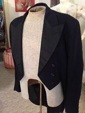 Vtg. 1930's Men's Formal Dress Tailcoat Tuxedo Jacket