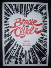 BONNIE AND CLYDE Hand-Signed CUBAN Screenprinted Movie Tribute Poster / CUBA ART