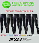 2XU WOMENS COMPRESSION TIGHTS[ Full length sports long gym skins fitness pants]