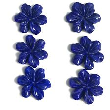 Natural Lapis Carved Flower 18mm, 1 PC - Wholesale A Grade Rare New Bead Design