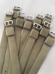 1x bracelet nylon 16mm pour montre militaire US Guerre du Vietnam vert kaki