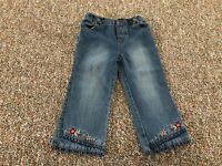 B.T. Kids Girls Flower Jeans 24M