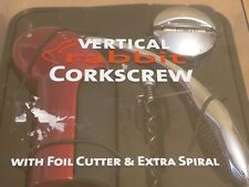 New listing Brand New Sealed Rabbit Vertical Corkscrew with Foil Cutter and Extra Spiral Red