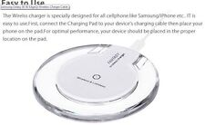 Clear Qi Wireless Charger Charging Pad for iPhone 8,8+,X,XS,XR,XS Max & S6,S7,S8