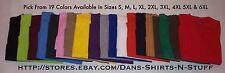 Plain 100% Cotton TALHA Brand T-Shirts S, M, L, XL, 2XL, 3XL, 4XL, 5XL 6XL Blank