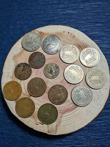 Vintage Old Korea Coin Lot 10 Hwan 50 Hwan 1 Won 5 Won 50 Won