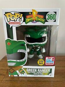 FUNKO 2017 NYCC  POWER RANGERS GREEN RANGER GLOW POP VINYL #360.
