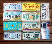 Pack of 10 Craft Condition License Plates for Art Projects LOT TAGS STATES