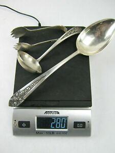 Lot of  (3) Sterling Silver Utensils 280g Hallmarked 800
