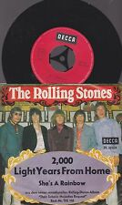 "17a 7"" vinly record THE ROLLING STONES  2,000 LIGHT YEARS FROM HOME  Germany"