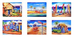 DEBORAH BROUGHTON ART Set of 6 cork-backed Placemats - Last sets left!