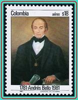 COLOMBIA 1981 ANDRES BELLO SC#C714 MNH LITERATURE