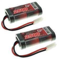 Vapextech 2x 2500mAh 4.8V SubC SC RC Nimh Batería Pack + Varios Conectores