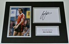 Joe Jordan Signed Autograph A4 photo mount display Manchester United AFTAL COA