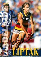 ✺Signed✺ 1996 ADELAIDE CROWS AFL Card MATTHEW LIPTAK