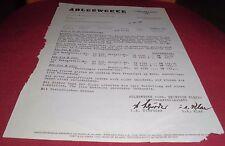 mitteilung preise auspuff adlerwerke vorm. heinr kleyer ag frankfurt 1957 papier