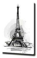 PARIS CANVAS PAINTING WALL ART PRINT POSTER PHOTO EIFFEL TOWER LADY RED UMBRELLA