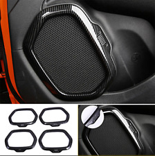 For 2015 - 2020 Jeep Renegade Carbon Fiber Interior Car Door Speaker Trim Cover