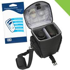 Kamera Tasche L + Folie für Canon EOS 70D 77D 200D 550D 1300D Nikon D500 D750