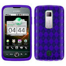 For Huawei Ascend M860 TPU CANDY Gel Flexi Skin Case Phone Cover Purple Plaid