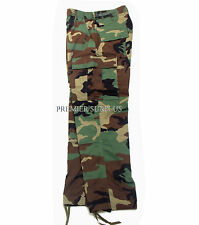 Genuine US Army Woodland M65 BDU Trousers Pants, Size Large Short, NEW