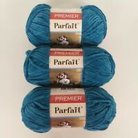 Lot 3 Skein Blueberry Premier Parfait Soft Yarn 100% Polyester #10300 3.5oz ea