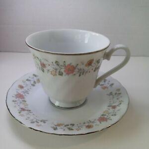 """Vintage Sheffield """"Bouquet Pattern"""" Porcelain Fine China Saucer & Tea Cup Japan"""
