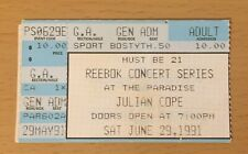 1991 JULIAN COPE BOSTON CONCERT TICKET STUB PEGGY SUICIDE JEHOVAHKILL RITE