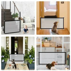 Baby Pets Dog Cat Safety Gate Mesh Fence Home Kitchen Net Portable Guard suplice