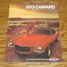 1973 Chevrolet Camaro Sales Brochure 73 Chevy Z28 Type LT Rally Sport Coupe