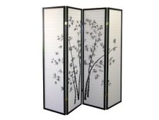 Japanese Folding Room Divider 3 Panel - Black & White - New Condition