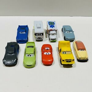Disney Pixar Cars Lot Mini Racers 9 Pieces Plastic