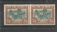 South Africa 1944 Pair 2/6 Gibbons#49b Mint Never Hinged