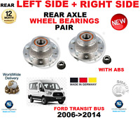 FOR FORD TRANSIT WITH ABS REAR WHEEL BEARINGS 2006->2014 LEFT + RIGHT EO QUALITY
