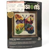 Vtg 1980 Dimensions FANTASY BUTTERFLY Needlepoint Kit 7012 NIP NOS