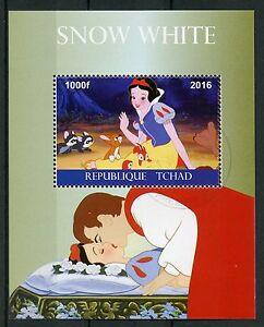 Chad 2016 CTO Snow White 1v M/S Disney Cartoons Stamps
